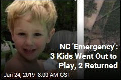 NC 'Emergency': 3 Kids Went Out to Play, 2 Returned