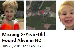 Missing 3-Year-Old Found Alive in NC