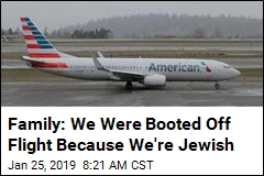 Family: We Were Booted Off Flight Because We're Jewish