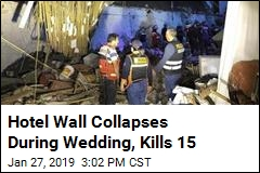 Hotel Wall Collapses During Wedding, Kills 15
