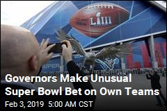 Governors Make Unusual Super Bowl Bet on Own Teams
