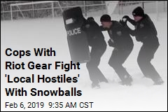 Cops Brought Riot Gear to ... a Snowball Fight