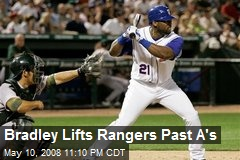 Bradley Lifts Rangers Past A's
