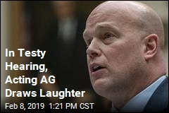 In Testy Hearing, Acting AG Draws Laughter