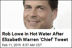 Rob Lowe Zings Warren as 'Commander in 'Chief''