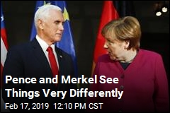 Pence, Merkel Cross Swords