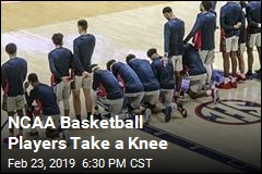 NCAA Basketball Players Take a Knee