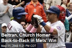 Beltran, Church Homer Back-to-Back in Mets' Win