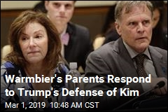 Warmbier's Parents Respond to Trump's Defense of Kim