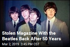 Stolen Magazine With the Beatles Back After 50 Years