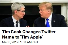 Tim Cook Changes Twitter Name to 'Tim Apple'