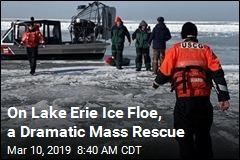 On Lake Erie Ice Floe, a Dramatic Mass Rescue