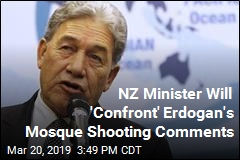 NZ Minister Will 'Confront' Erdogan's Mosque Shooting Comments