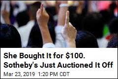 Garage Sale Price: $100. At Sotheby's: Off the Charts