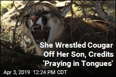 She Saved Son From Cougar, Credits 'Praying in Tongues'
