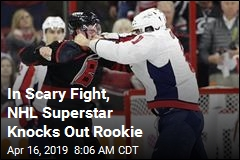 NHL Vet Ovechkin Knocks Out Teen Rookie in Fight