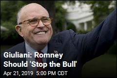 Giuliani: Romney Should 'Stop the Bull'