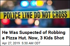 Caught in a Shootout With Robbery Suspect: 3 Kids