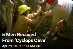 5 Men Rescued From 'Cyclops Cave'