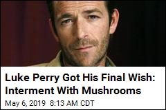 Luke Perry Got His Final Wish: Interment With Mushrooms