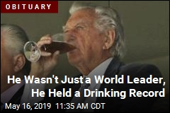 For This World Leader, a World Drinking Record