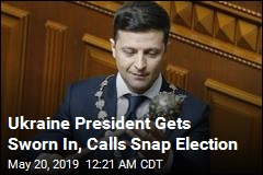 Ukraine President Gets Sworn In, Calls Snap Election