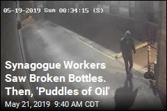 Synagogue Workers Saw Broken Bottles. Then, 'Puddles of Oil'
