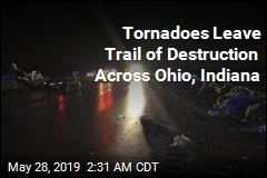 Snowplows Clear Highway After Tornadoes Hit Ohio