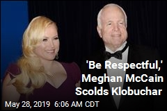 'Be Respectful,' Meghan McCain Scolds Klobuchar
