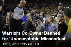 Warriors Co-Owner Banned for a Year for Shoving Player