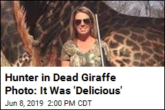Hunter in Dead Giraffe Photo: I'm 'Proud to Hunt'