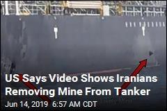 US Says Video Shows Iranians Removing Mine From Tanker