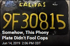 Somehow, This Phony Plate Didn't Fool Cops