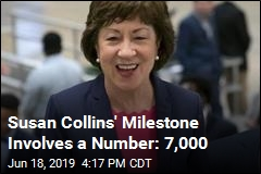 Susan Collins' Milestone Involves a Number: 7,000