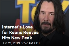 Internet's Love for Keanu Reeves Hits New Peak