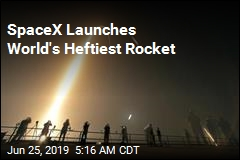 SpaceX Launches World's Heftiest Rocket