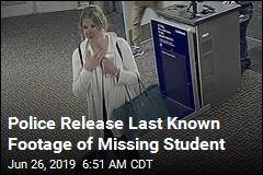 Police Release Last Known Footage of Missing Student