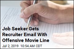Job Seeker Gets Recruiter Email With Offensive Movie Line