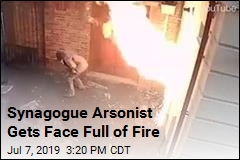Anti-Semitic Arsonist Sets Himself on Fire