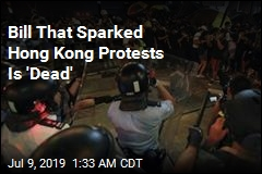 Bill That Sparked Hong Kong Protests Is 'Dead'