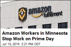 Amid Prime Day Deals, a Strike by US Workers