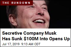 Secretive Company Musk Has Sunk $100M Into Opens Up