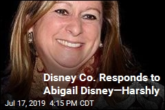 Disney Co. Slams Abigail Disney's 'Stunt'