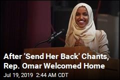 Crowd Welcomes Rep. Omar Home