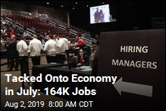 Tacked Onto Economy in July: 164K Jobs