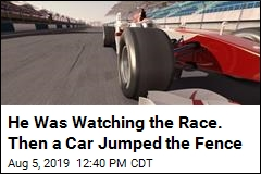 He Was Watching the Race. Then a Car Jumped the Fence