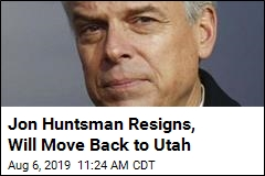 Huntsman Resigns His Post as US Ambassador to Russia