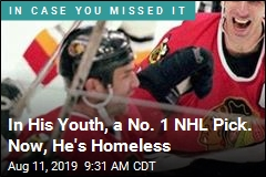 In His Youth, a No. 1 NHL Pick. Now, He's Homeless