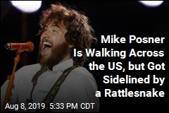 Mike Posner Is Walking Across the US, but Got Sidelined by a Rattlesnake