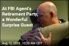 At FBI Agent's Retirement Party, a Wonderful Surprise Guest